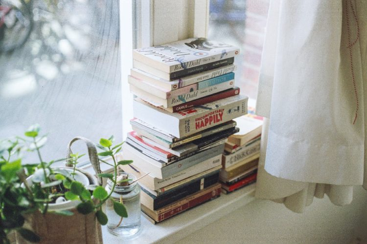books by window